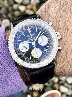 100 % Authentic Breitling Navitimer Automatic Black dial Men's Watch! (A23322)