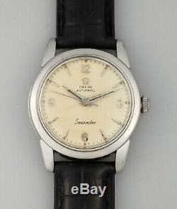 1956 Vintage Omega Seamaster 470 Automatic Ss Mens MID Wrist Watch 2828-7 Sc