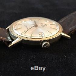 1967 Omega Seamaster 14k GF Gent's Wrist Watch 17J Automatic Date Swiss Cal 563