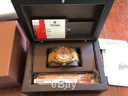 2017 Tudor Black Bay Bronze Automatic Chronometer Brown 79250BM Two Straps