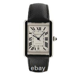 2020 Cartier Tank Solo XL Steel Automatic Watch WSTA0029 NEW Complete
