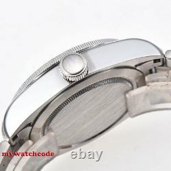 41mm CORGUET black dial Sapphire Glass date NH35 Automatic diving mens Watch