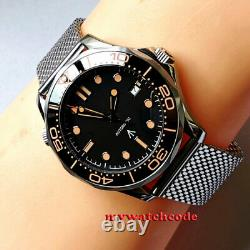 41mm bliger black dial orange marks Sapphire glass NH35 automatic mens Watch