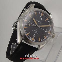 41mm corgeut black dial sapphire glass miyota 8215 Automatic mens Watch C130