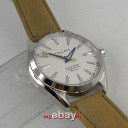 41mm corgeut white dial sapphire glass 21 jewels miyota Automatic mens Watch 133