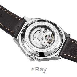 42mm Parnis Miyota Automatic Luminous Marker Men's Casual Watch Date Waterproof