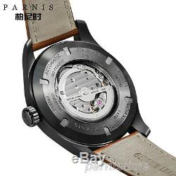 44mm Parnis Luminous Marker Miyota Automatic Men's Pilot Watch Sapphire Crystal