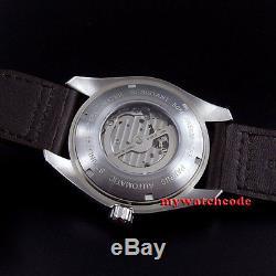 45mm PARNIS black dial Ceramic Bezel 21 jewels miyota automatic mens Watch P671U
