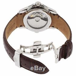 Accutron by Bulova 63B160 Men's Calibrator Automatic Brown Genuine Leather Watch