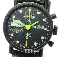 Alain Silberstein Moon phase chronograph black Dial Automatic Men's Watch 558589
