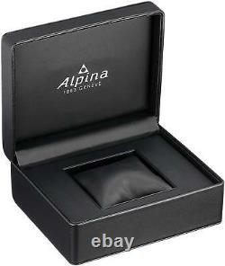 Alpina Automatic Mens Startimer Pilot Chronograph Leather 42mm Watch AL-727SS4H6