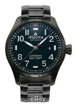 Alpina Men's Startimer Pilot Automatic Black 44mm Watch AL-525NN4TS6B