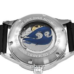 Aquacy Hei Matau Cave Diver Open Heart Men's Automatic 200M Abalone Dive Watch
