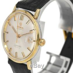 Auth OMEGA Seamaster DE VILLE Champagne Gold Dial Automatic Men's Watch E#84007