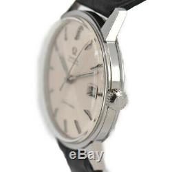 Auth Vintage OMEGA Seamaster SS/Leather Cal. 565 Automatic Men's Watch P#93666
