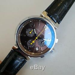 Authentic Louis Vuitton Tambour Chronograph, ref. Q1121, automatic mens watch
