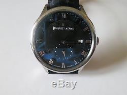 Authentic Maurice Lacroix Masterpiece Black Leather Men's Automatic Watch MP6907