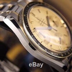 Authentic Omega Speedmaster Reduced Chronograph 18K Gold Automatic Mens Watch