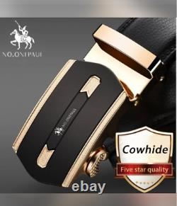 Automatic Metal Gold and Black colour Luxury Belt Luxury
