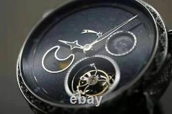 Automatic Tourbillon Watches Super Starry Sky Moon Phase Tourbillon Wristwatch