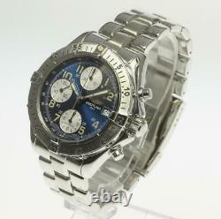 BREITLING Colt Chronograph A13035.1 Blue Dial Automatic Men's Watch 494606