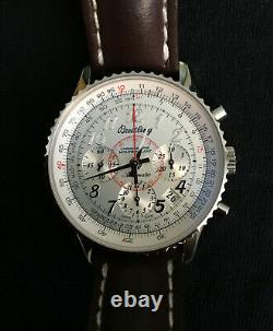 BREITLING Navitimer Montbrillant AB0130 Silver Dial Automatic Men's Watch