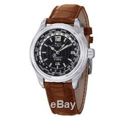 Ball GM1020D-L1CAJ-BK Trainmaster World Time Automatic Black Dial Men's Watch