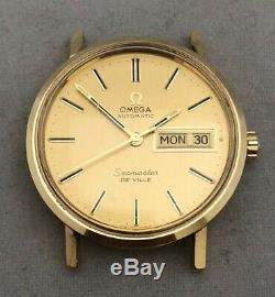 Bid Away 14k Solid Yellow Gold Vintage Mens Omega Automatic Seamaster Deville
