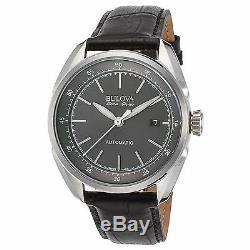 Bulova 63B188 Men's Accu-Swiss Tellaro Silver-Tone Automatic Watch