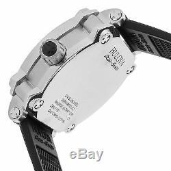 Bulova 63B195 Men's Accu-Swiss Percheron Silver-Tone Automatic Watch