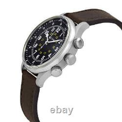 Bulova A-15 Pilot Automatic Black Dial Brown Leather Men's Watch 96A245
