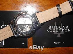 Bulova Accutron Gemini 63C011 Men's Swiss Made Automatic Chronograph Watch NEW