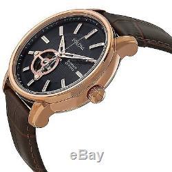 Bulova Men's 97A109 Automatic Skeleton Window Black Dial 45mm Watch