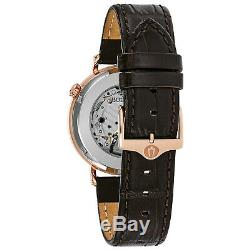 Bulova Men's Automatic Aerojet Skeleton Window Exhibition Back 41mm Watch 97A136