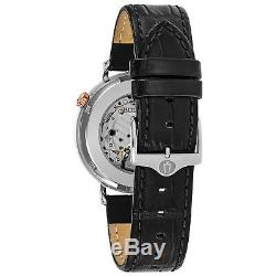 Bulova Men's Automatic Skeleton Window Exhibition Case Back 41mm Watch 98A187