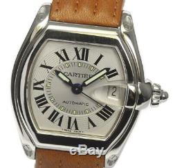 CARTIER Roadster 2510 Date Silver Dial Automatic Men's Watch 526445