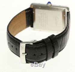 CARTIER Tank Solo XL WSTA0029 Automatic Leather Belt Men's Watch 455865
