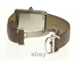 CARTIER Tank solo XL WSTA0029 Date Silver Dial Automatic Men's Watch(a) 530017