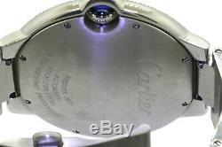 Cartier Ballon Bleu 3001 SS 2.0CTW VS diamond bezel 42mm automatic men's watch