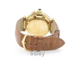 Cartier Pasha 38mm Automatic Solid 18K Yellow Gold Men's Watch on leather strap