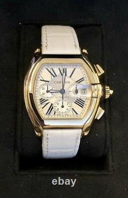 Cartier Roadster XL Chronograph 18K Gold Automatic 2619 Watch Box & Papers