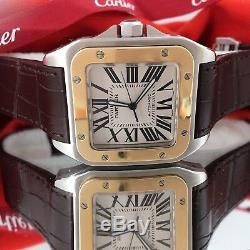 Cartier Santos 100 XL 2656 Two Tone 18k Gold Steel Automatic Men's Watch minty