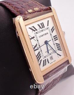 Cartier Tank Solo XL W5200026 Automatic 18K Rose Gold B&P MSRP $8200 BRAND NEW