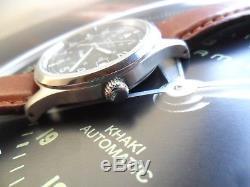 Clean S/S Men's Hamilton Khaki Field 24 Hour Dial Automatic Swiss Watch Runs