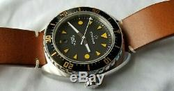ETERNA Super KonTiki Swiss Automatic Diver Watch 45MM Leather 1273-41-49-1363