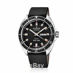 Edox 88004 3 NIN Men's Delfin Black Automatic Watch