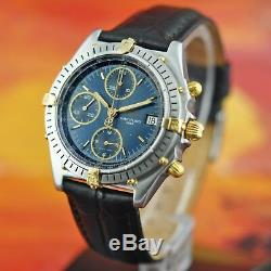 Excellent Breitling Chronomat B13048 Pilot Steel 18k Gold Automatic Valjoux 7750