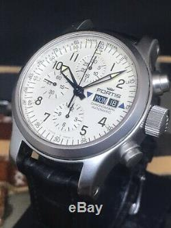 Fortis B-42 Flieger Chronograph Day Date 42mm Swiss Valjoux Automatic 200m Diver