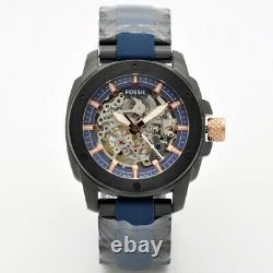 Fossil Modern Machine Automatic Skeleton Dial Two-tone Men's Watch Me3133 New