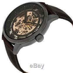 Fossil Townsman Automatic Brown Skeleton Dial Men's Watch ME3098